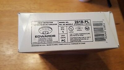 Edwards Heat Detector 281B-PL  135 Degree Fixed with Rate of Rise