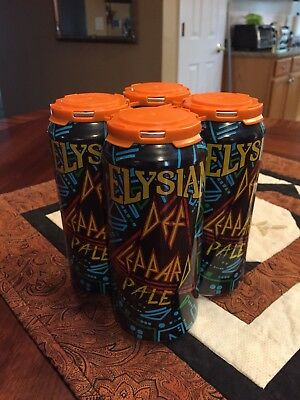 (4) Elysian Brewing Company Def Leppard Beer / Pale 16Oz Pull Tab Can Brand New