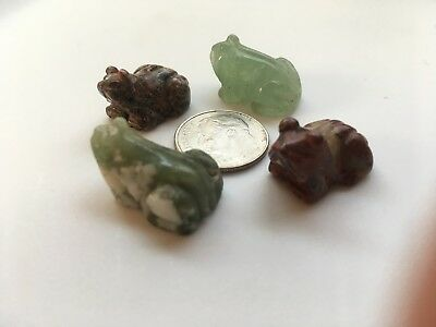 Vintage Carved Stone Frogs
