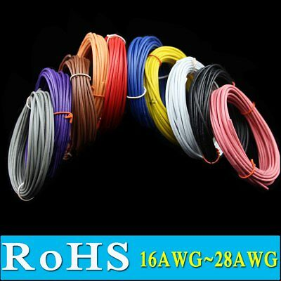 Stranded UL1007 16 18 20 22 24 26 28 30 AWG Wire Hookup Cable Flexible 300V ROHs