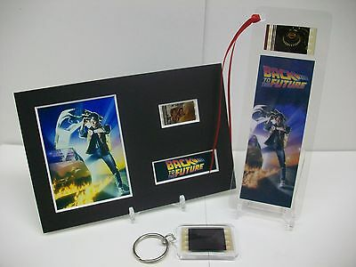 BACK TO THE FUTURE - Movie Film Cell Memorabilia 3 Piece Collection Gift Set