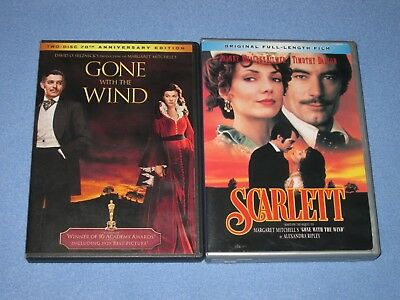 2 DVD Lot: GONE WITH THE WIND & SCARLETT ***Rare, OOP!*** Both films on 4 discs!