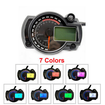 NEW 7 Color KOSO RX2N Motorcycle LCD Digital Speed Oil ODO Instrument Assembly