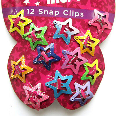 12pcs Star Butterfly Hair Clips Snaps For Girls Baby Kids Head Accessories