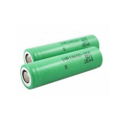 New 2pcs Samsung INR18650-25R VTC6 2500mAh 20A HIGH DRAIN rechargeable Battery