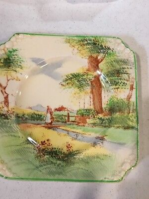 Royal Doulton Springtime Small Square Embossed Plate D4933
