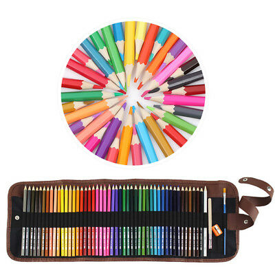 Aquarell-Farbstifte Buntstift Aquarellstifte 48er Set mit Pinsel Radiergummi