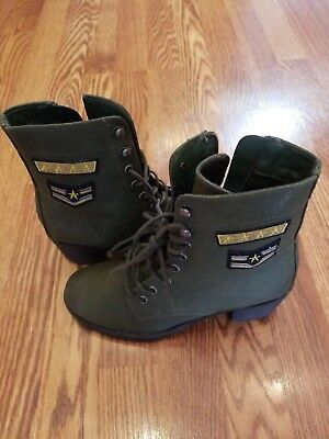 Woman's Madden NYC Combat Boots Brand New Size 8