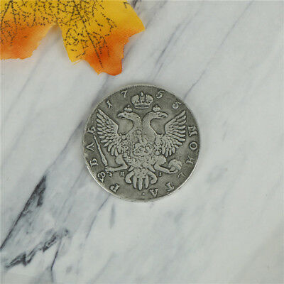Brass 1755 Russian Antique Playing Old Silver Coins For Holiday Gift US.``