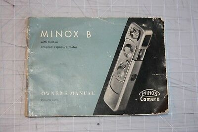 Minox B Instruction Manual, 48 Pages, Nice Used Condition