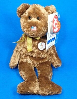 Ty Beanie Baby Babies ~ CHAMPION UNITED STATES FIFA WORLD CUP SOCCER BEAR ~Plush