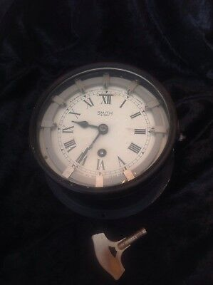 Vintage Smith 8 Day Astral Marine  Ship's Wall Clock APW 6578 Time Switch
