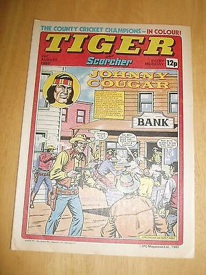 Tiger Comic 2/8/80  With  Essex Cricket County Champions  Colour Poster