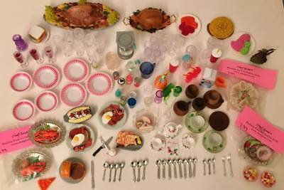 1:6 Scale Barbie Doll Kitchen Littles Food Dishes & Accessories Lot