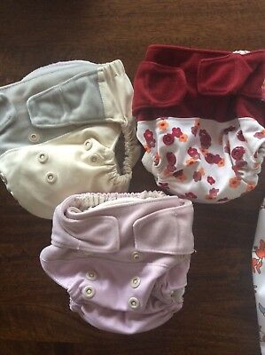 Grovia Modern cloth Nappies x 3 with 10 x inserts