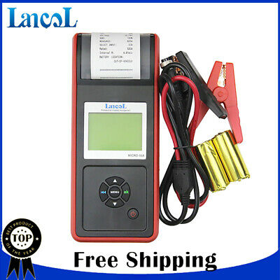 12V Digital Car Battery Detector Analyzer Car Load Tester With Printer MICRO-568