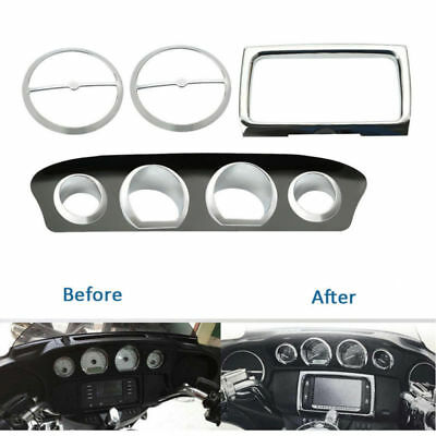 Gauge Bezel Trim Mount Plate For Harley Touring Electra Street Glide 2014-later