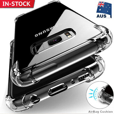 Shockproof Slim Hard Heavy Duty Clear Case Cover for Samsung Galaxy S9 S10 Plus