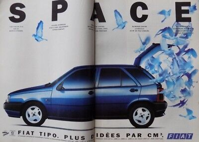 Fiat Tipo 2 Pages Publicité Advertising 1990