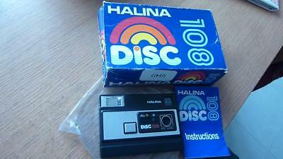 Vintage Halina disc 108 camera point and shoot compact.New and Boxed.