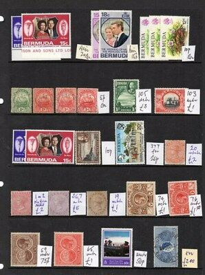 Stamps Bermuda selection with condition as indicated on scan.