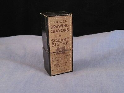 Conte French Vintage Drawing Art Crayon Pencil Lead Refills Square Brown Bistre