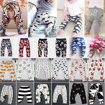 Newborn Kids Baby Boys Girls Casual Cotton Harem Pants Leggings Trousers Bottoms
