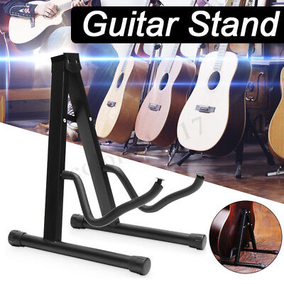 Universal Folding A-Frame Music Guitar Floor Stand Holder Electric Acoustic Bass