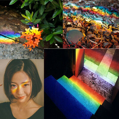 """3.5"""" Triangular Photography Prism Optical Crystal Glass Physics Best US Shipment"""