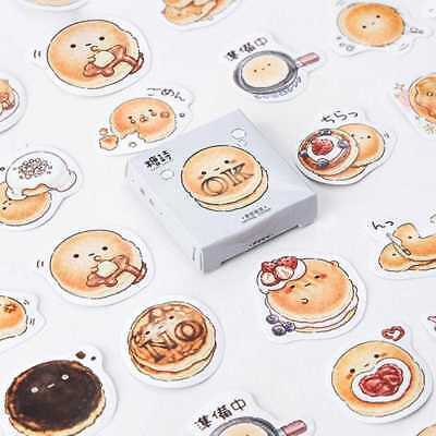 45pcs/lot Cute DIY  Kawaii Round Bread Sticker Diary Stickers Scrapbook Journal