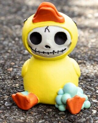 Furrybones Bob Figurine Duck Fluffy Skeleton Skull Gothic Cute Different Gift