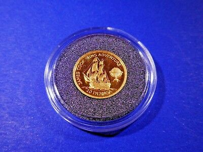 One Gold Coin from the Worlds smallest Collection ( 1.224 grams ).