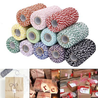 100meters/roll 2ply Cotton Cords Twine String DIY Rope Packing Craft Projects
