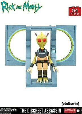 New The Discreet Assassin Rick /& Morty Micro Builder Construction Sets