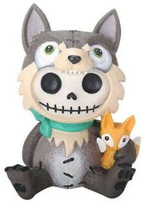 FurryBones Wolfgang Figurine Ornament Wolf Fox Cool Cute Gothic Skull Skeleton