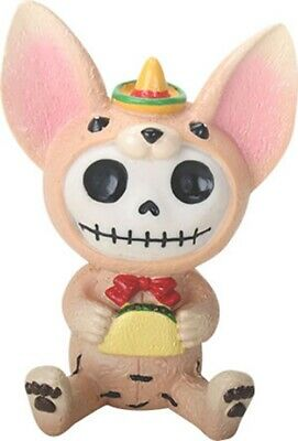 FurryBones Taco Figurine Chihuahua Dog Skeleton Goth Cute Cool Alt Ornament Gift