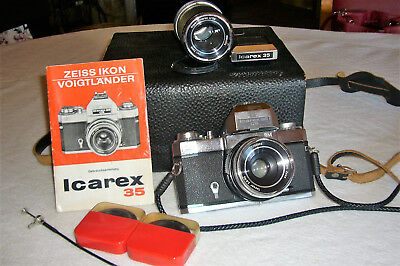 Rarität Zeiss Ikon Icarex 35 Cs Bm Slr-Kamera + Zubehör Made In Germany