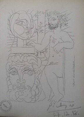 Pablo Picasso very nice 1956 Lithographs Vollard Suite hand signed