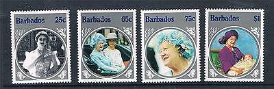 Barbados 1985 Life & Times Queen Mother SG779/82 MNH