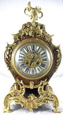 """Superb Large 20"""" 19th c French Inlaid Boulle & Gilt Bronze Bracket /Table Clock"""