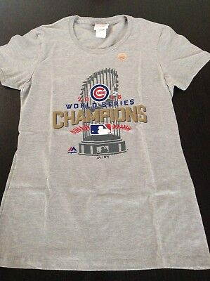 Chicago Cubs MLB Majestic T-Shirt Damen Gr.M World Series 2016-neu
