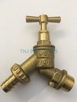 "1/2"" Brass Outdoor Garden Tap WITH CHECK VALVE, Hose Union, Bibcheck, Outside"