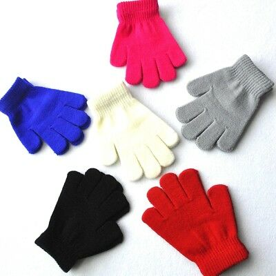 Kids Magic Gloves Winter Warm Gloves Mittens Kid Stretchy Knitted for Girl Boy&