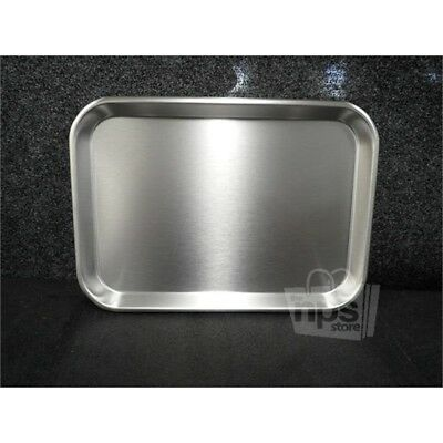 "Polar Ware 13F Stainless Steel Instrument Tray w/ Rolled Bead 13.75""x9.8 x .75"""