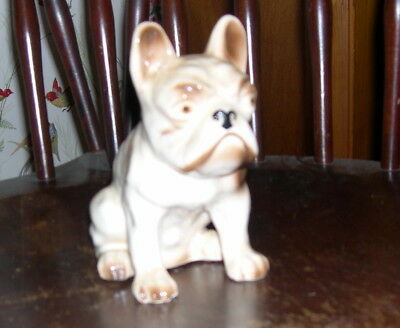 French Bulldog Figurine- Seated Frenchie Planter- Grumpy Face