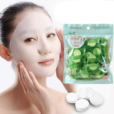 30pc Lady Skin Care Face Facial Compressed Dry Mask Paper: