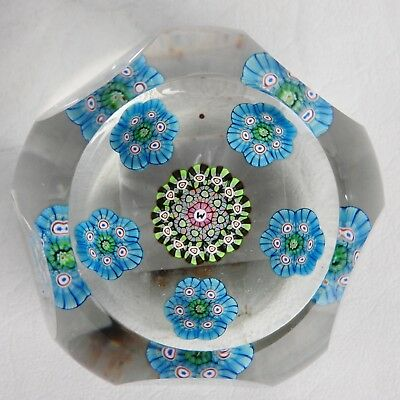 Facetierter Perthshire paperweight, millefiori canes