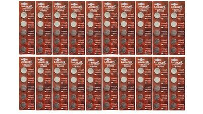 100 PCS CR2032 Lithium Battery 3V Button Cell Batteries - Carded Loopacell Brand