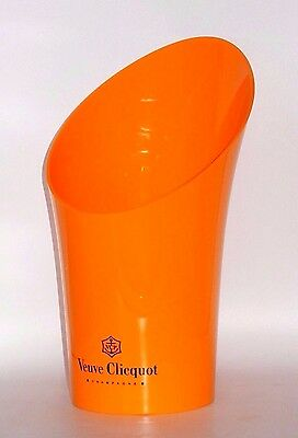 "New ~ Veuve Clicquot Vasque Champagne 15"" Orange Acrylic 1.5L Magnum Ice Bucket"