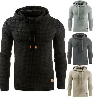 Mens Winter Slim Hoodie Warm Hooded Sweatshirt Coat Jacket Outwear Sweater Gift#